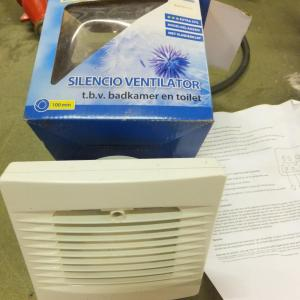 Ventilator voor bad of toilet, 220v extra stil (a37)45